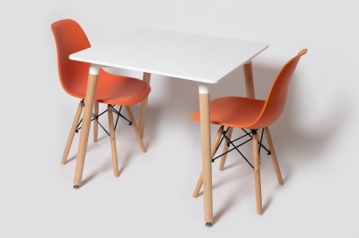 Стол ST-006 Стулья SC-001 оранжевый