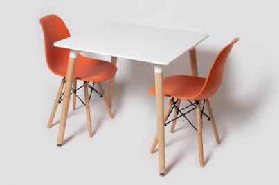 Стол ST-006\Стул SC-001 оранжевый