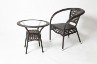 Комплект садовой мебели (стул RC16\стол RT 206) Коричневый