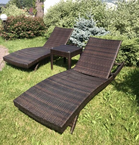 Комплект шезлонгов-лежаков со столиком RL-9\RL-Т9)