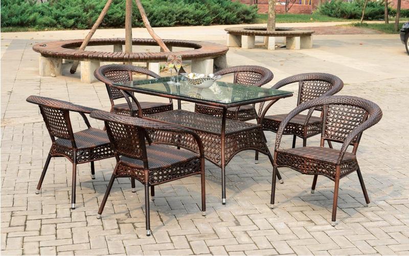 Комплект садовой мебели (стул RC 16 Коричневый стол RT -А 206)