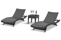 Комплект шезлонгов-лежаков со столиком RL-9